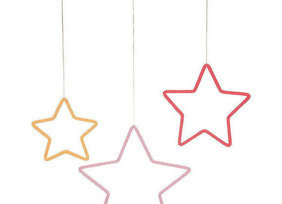 Stars wall decoration - set of 3
