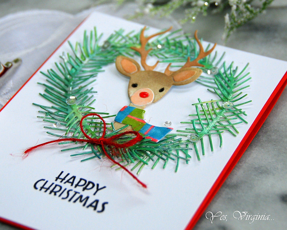 DIY Christmas card Montessori