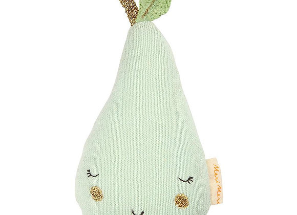 Soft Pear Rattle