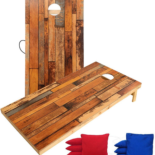 Cornhole Boards, 8 Cornhole Toss Bags, Perfect for Backyard Outdoor Indoor Party