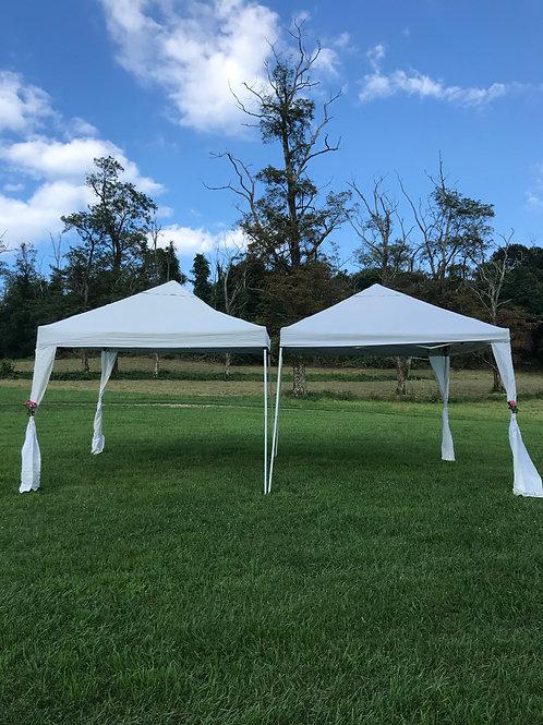 White Wedding Tents 10x10