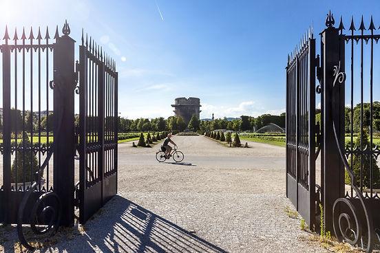 Entrance to the Augarten Park Vienna w.j