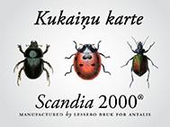 Kukaiņu karte ir klāt. Scandia 2000