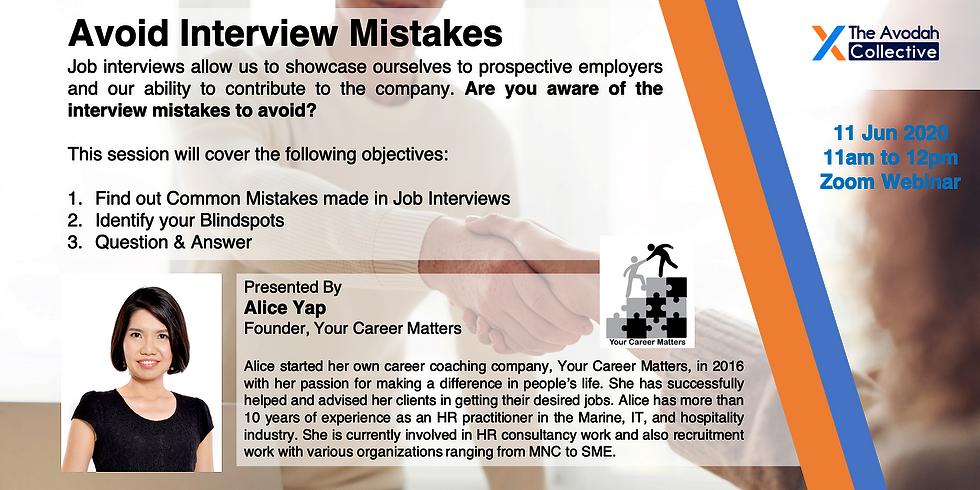 Avoid Interview Mistakes