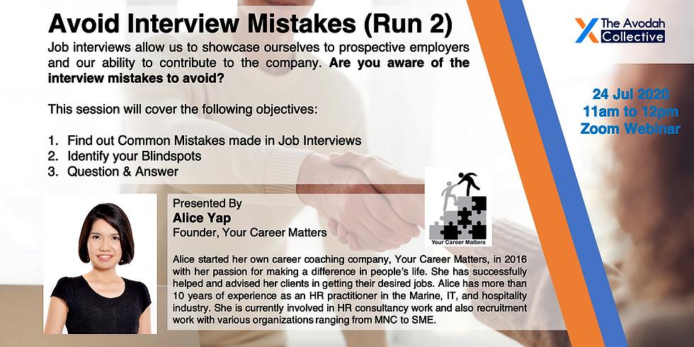 Avoid Interview Mistakes (Run 2)
