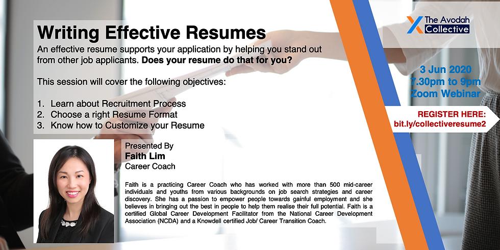 Write Effective Resumes (Run 2)