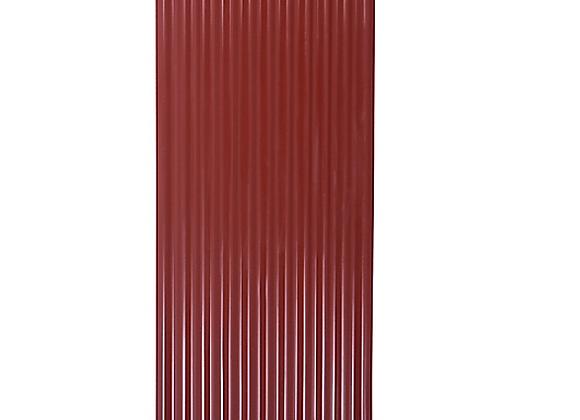 ZINC ACANALADO PREPINTADO ROJO 0.35 X 5 MTS  (0.85 CM ANCHO)