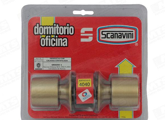 CERRADURA SCANAVINI TUBULAR DORMITORIO/OFICINA 4040+BSORM/OF. 4040+BS