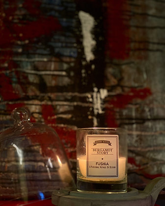 Bergamot Story Scented Candle – Elegant Silver Cover