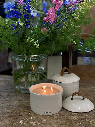 Hand made ceramic  scented candle