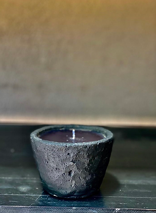 Scented stone candle height 7 cm ,10cm diameter