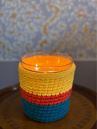 Our scented candle with hand made unique crochet by KUCHIN