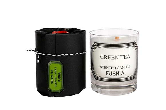 Woodwick Green tea scented candle