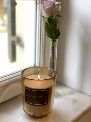 Beautiful Amber glass Scented candle