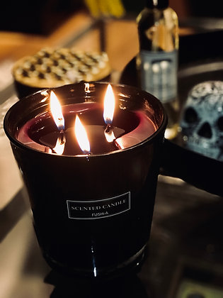 Black Glass Scented Candle