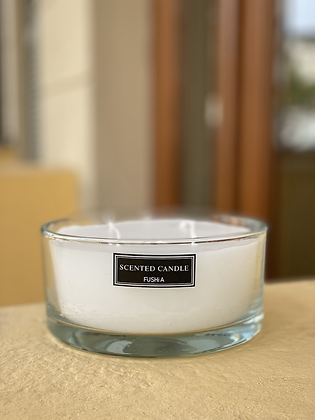 Xl Saint Scented Clear glass candle
