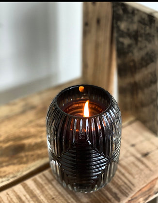Scented candle European Black glass art nouveau