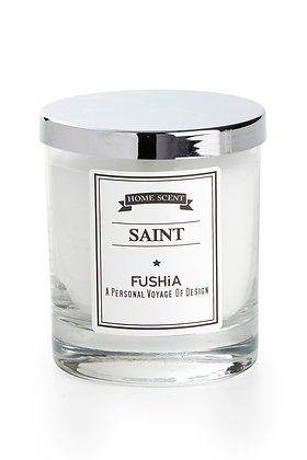 Saint Scented Candle – Elegant Silver Cover