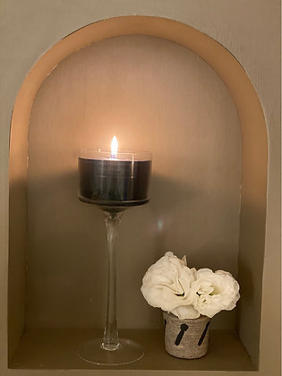 25 cm Black Scented Candle