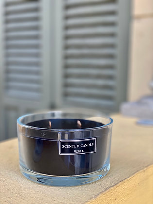 XL Black Wood Wick Scented Candle