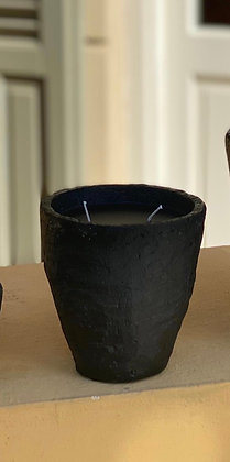 Scented stone candle. 12 cm height ,diameter 11cm.40 hours burning time