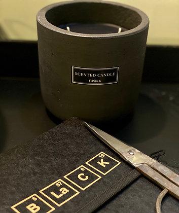 Black Ceramic Scented Candle