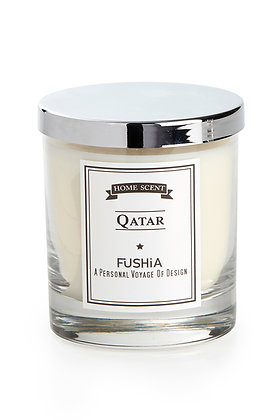 Qatar Scented Candle – Elegant Silver Cover