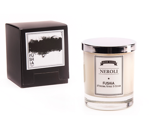 Neroli Scented Candle – Elegant Silver Cover