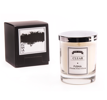 Clear Scented Candle – Elegant Silver Cover
