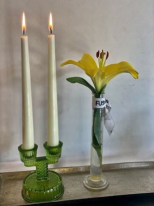Green Candlestick with two candles