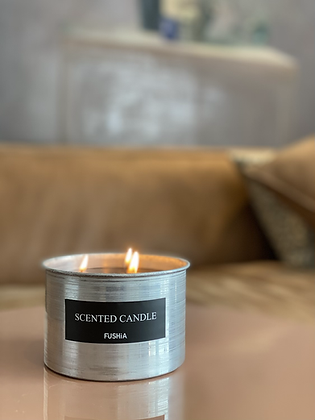 Hand made aluminum scented Candle