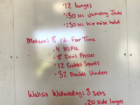 CFL Home Wod: day 46