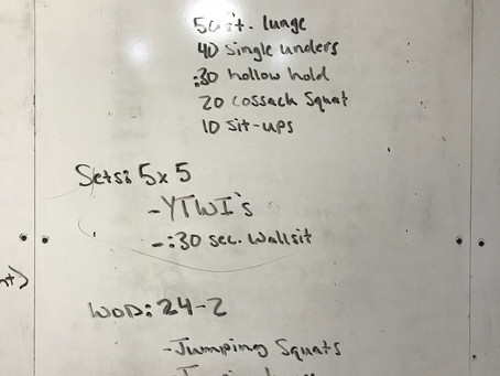 CFL home wod: Day 41