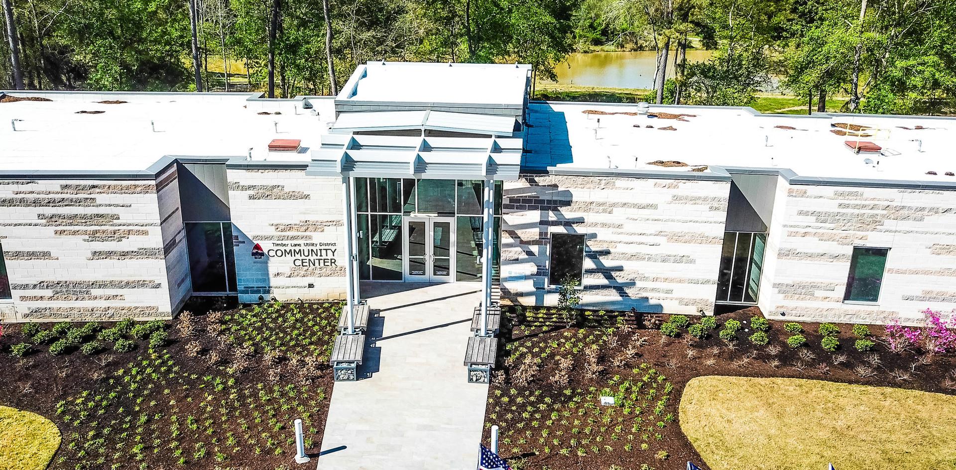 Aerial Timber Lane Community Center