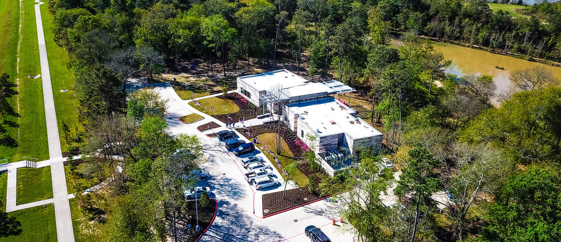 Aerial Timber Lane Community Center and Lake