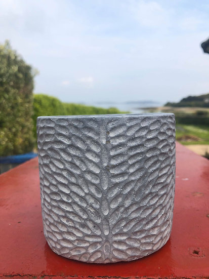 (Christmas) Grey Textured Succulent Pot- dispatched 17th December