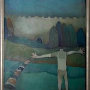 Glad mand, 70x54, 2008-2010, olie på lærred