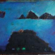 Blå  udsigt, 40x48, olie på lærred