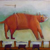 Dyret, 60x70, olie på lærred