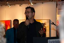 Hillerød censurerede Forårsudstilling. Adrian Huges holder åbningstalen