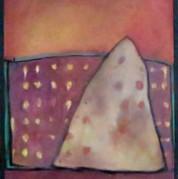 Pyramideøvelse 40x30, olie på lærred