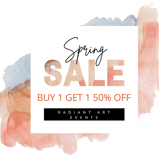 Spring Sale Instagram Post with watercol