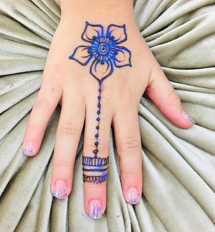 Flower Henna Tattoo