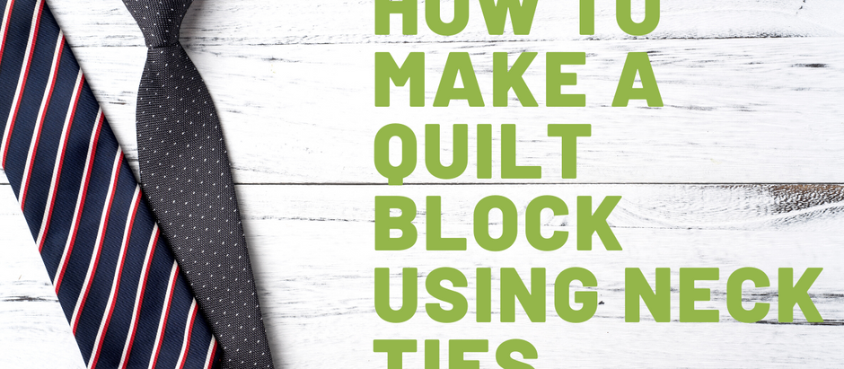 How to Make a Quilt Block Using Neck Ties