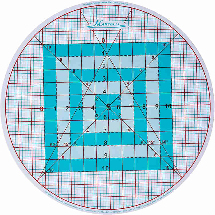 Martelli Rotary Cutting Mat for Quilting and Sewing