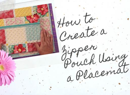 How to Create a Zipper Pouch Using a Placemat