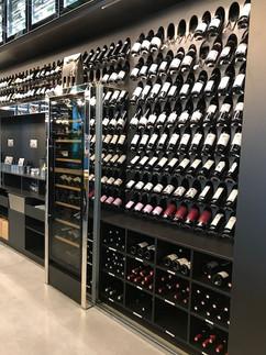Une cave à vins
