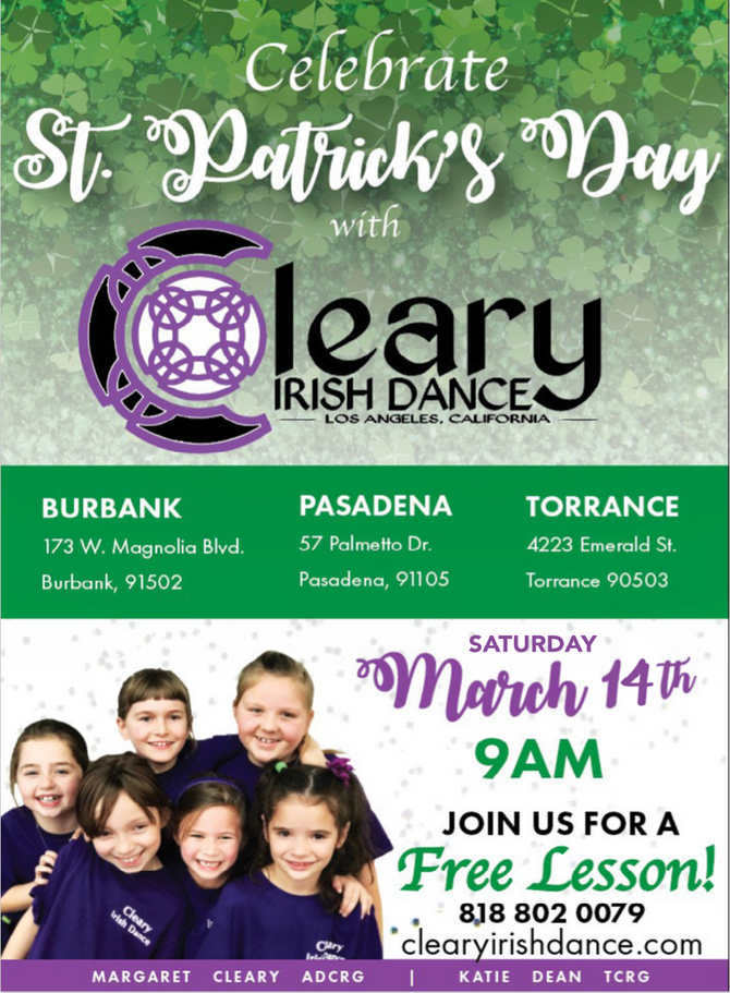 Celebrate St. Patrick's Day with a FREE class!