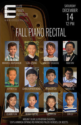 Elite Piano Institute - Fall 2019 Recita
