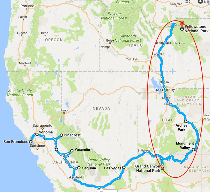 Heading North, through Deserts, over Mountains…